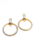 "Gold ""Door Knocker"" Large Hoop Earrings"