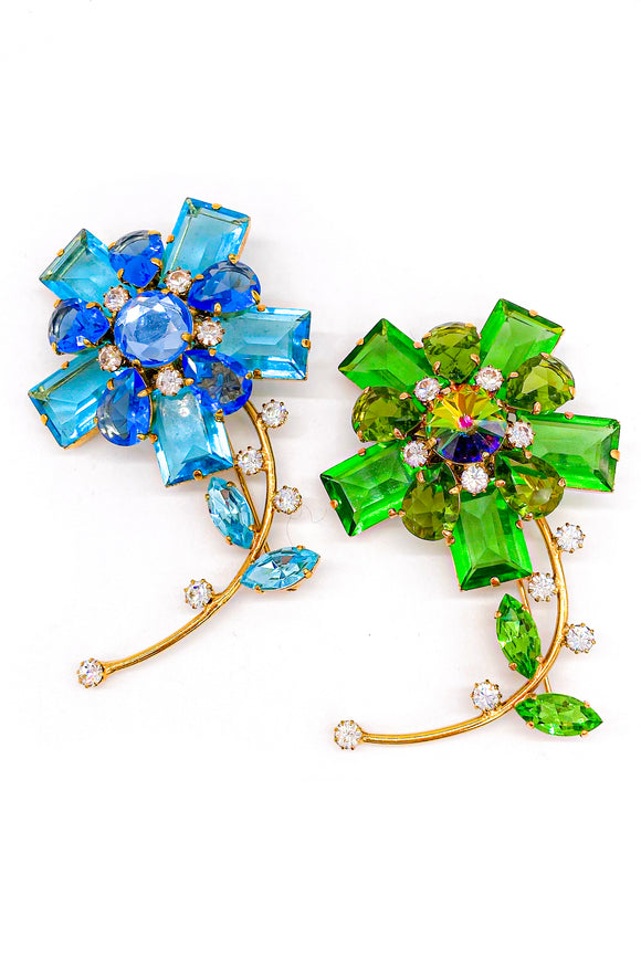 Crystal Flower Broaches by Marc Jacobs