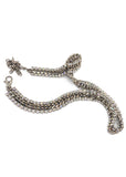 Vintage Silver Chain and Crystal Rhinestone Belt