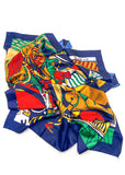 """Picasso"" Print Silk Scarf"
