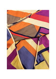 Fendi Geometric Print Pleated Silk A-line Skirt - BOUTIQUE PURCHASE PRICE