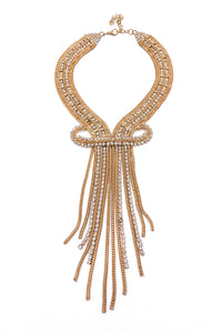 "Vintage Diamond and Gold Chain ""Showgirl"" Necklace"