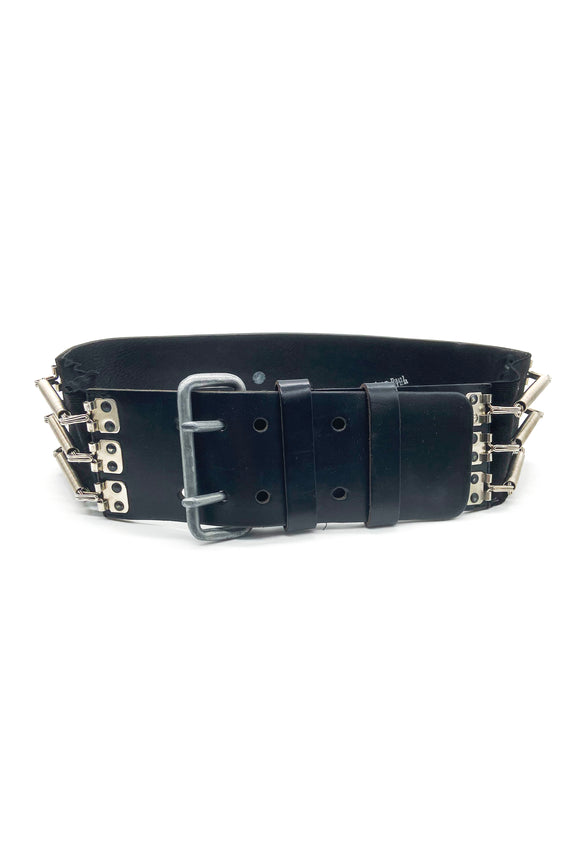 Jean Paul Gaultier Black Leather and Elastic