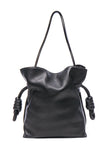 Loewe Flamingo Knot Black Calf Skin Shoulder Bag