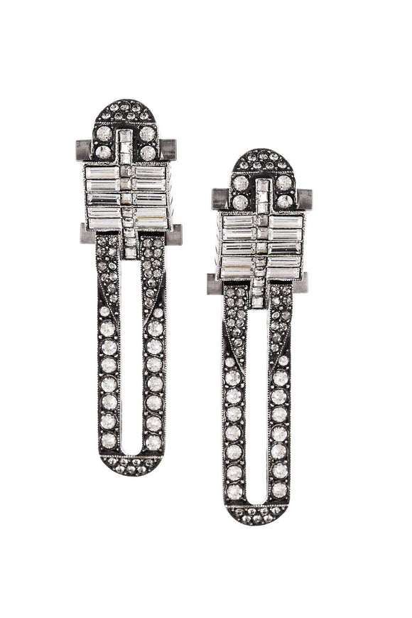Lanvin Dedale Art Deco Earrings
