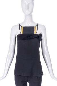 Lanvin Halter Top with Statement Brass Breast Plate Detail F/W 2010 BOUTIQUE PURCHASE PRICE