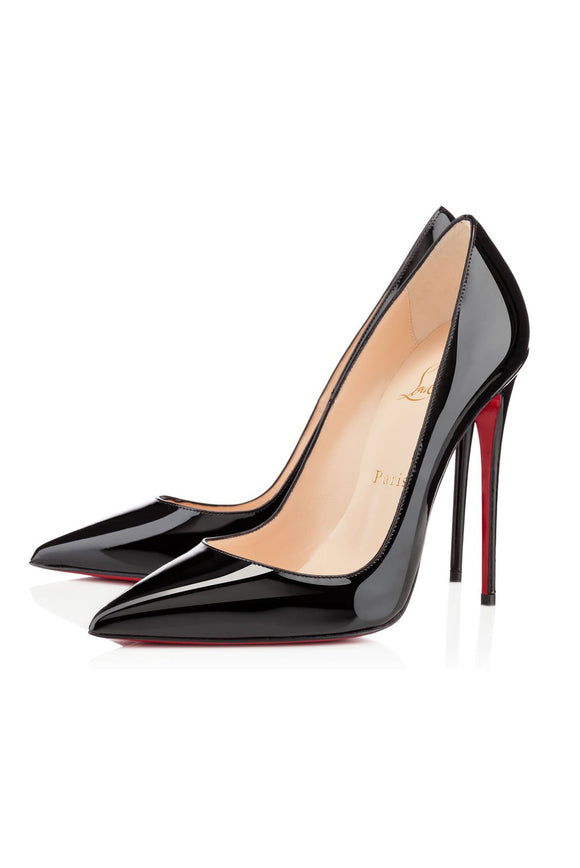 Christian Louboutin Pigalle Follies Patent Leather Pointed Toe Stiletto