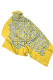 Marc Jacobs Yellow and Baby Blue Print Silk Top and Scarf FW2009