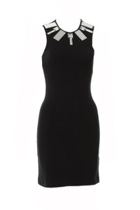 Markus Lupfer Black Dress with Mirror and Crystal Details