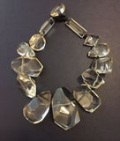 Monies Lucite  Crystal Geometric Statement Necklace
