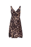 Prada Silk Brown Leopard Dress