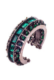 Roberto Cavalli Emerald  and Stud Gunmetal Cuff