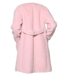 Rochas Pale Pink Teddy Bear Coat - BOUTIQUE PURCHASE PRICE