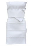 Yves Saint Laurent by Tom Ford White Elastic Bandeau Dress - BOUTIQUE PURCHASE PRICE