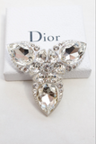 Christian Dior Massive Lucite and Crystal Brooch SS2004