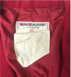 Saint Laurent Red Garbadine Wool Puff Sleeve Jacket - BOUTIQUE PURCHASE PRICE