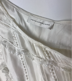 Faith Connection White Lace Silk Oversized Nightgown Dress