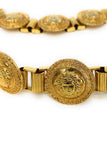Versace 90's Gold Plated Medium 22 Link Medusa Coin Belt - BOUTIQUE PURCHASE PRICE