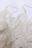 Vintage Ivory Negligee with Lace Details