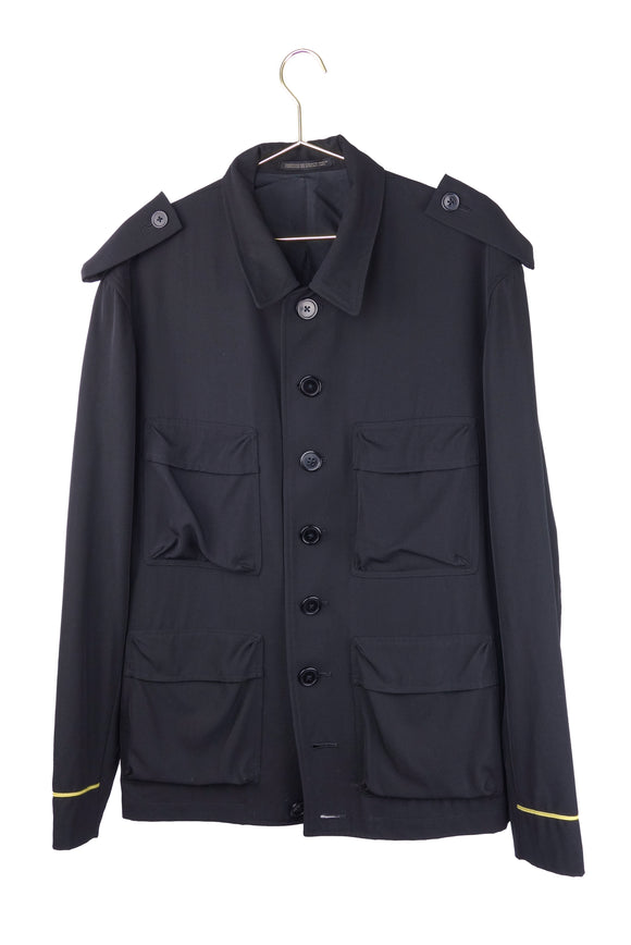 Yohji Yamamoto Military Jacket with Gold Piping Details