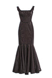 Zac Posen Black Lurex Shine Mermaid Evening Gown