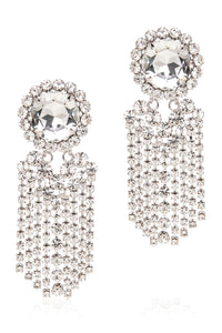 Alessandra Rich Crystal Fringe Oversized Earrings