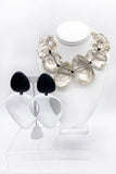 Monies Oversized Oval Lucite and Black Ebony Earrings