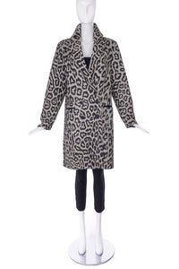 Sea New York Leopard Print Double Breasted Coat