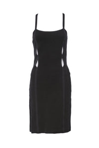 Versus Versace Black Cut-Out Dress