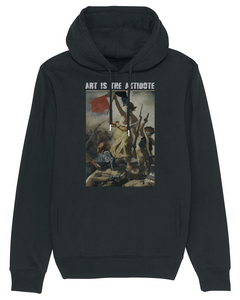 "Sweatshirt à Capuche  ""Art Is The Antidote"" - Lacroix"