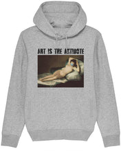 "Charger l'image dans la galerie, Sweatshirt à Capuche  ""Art Is The Antidote"" - Maja Desnuda"
