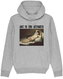"Sweatshirt à Capuche  ""Art Is The Antidote"" - Maja Desnuda"