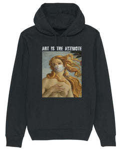 "Sweatshirt à Capuche  ""Art Is The Antidote"" - Venus"