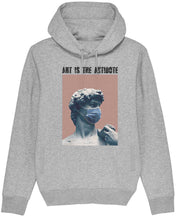 "Charger l'image dans la galerie, Sweatshirt à Capuche  ""Art Is The Antidote"" - David"