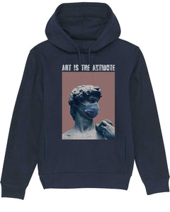 "Sweatshirt à Capuche  ""Art Is The Antidote"" - David"