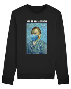 "Sweatshirt ""Art Is The Antidote"" - Van Gogh"