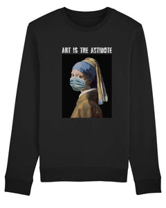 "Sweatshirt ""Art Is The Antidote"" - La Jeune Fille à la Perle"