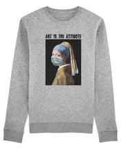 "Charger l'image dans la galerie, Sweatshirt ""Art Is The Antidote"" - La Jeune Fille à la Perle"