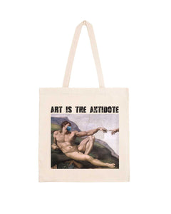 "Totebag ""Art Is The Antidote"" - Adam"