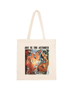 "Totebag ""Art Is The Antidote"" - Les Demoiselles d'Avignon"