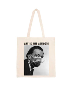 "Totebag ""Art Is The Antidote"" - Dalí"