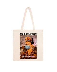 "Totebag ""Art Is The Antidote"" - Kahlo I"