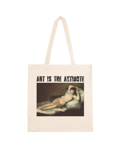 "Totebag ""Art Is The Antidote"" - Maja Desnuda"