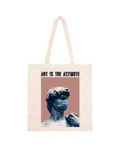 "Totebag ""Art Is The Antidote"" - David"