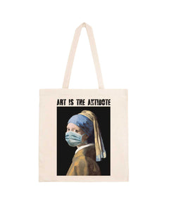 "Totebag ""Art Is The Antidote"" - La Jeune Fille à la Perle"