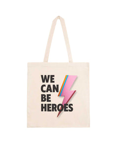 "Totebag ""We Can Be Heroes"""