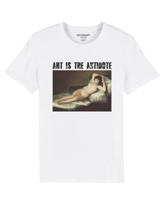 "T-shirt  ""Art Is The Antidote"" - Maja Desnuda"