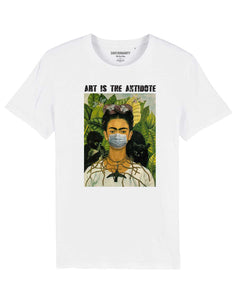 "T-shirt  ""Art Is The Antidote"" - Kahlo II"