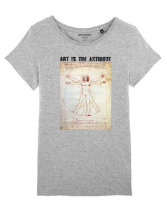 "T-shirt  ""Art Is The Antidote"" - DaVinci"