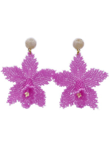 Orchid Earrings - Pink
